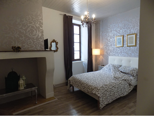 Main bedroom in the Charente